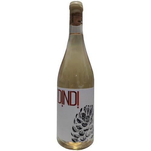 Botella de vino blanco Dindi, de bodegas Malaparte en Cuellar (Segovia)