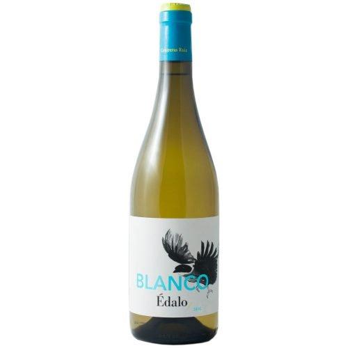 Botella de vino blanco Edalo, de bodega Contreras Ruiz, en Huelva