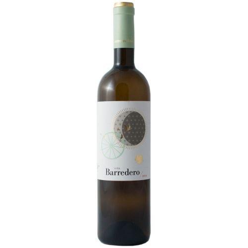 Botella de vino blanco Viña barredero, de bodega Contreras Ruiz, en Huelva