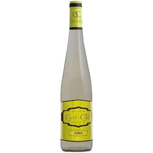 Botella de vino blanco de la Mancha Carril de Cotos Airen. De Cooperativa San Isidro de Pedro Muñoz