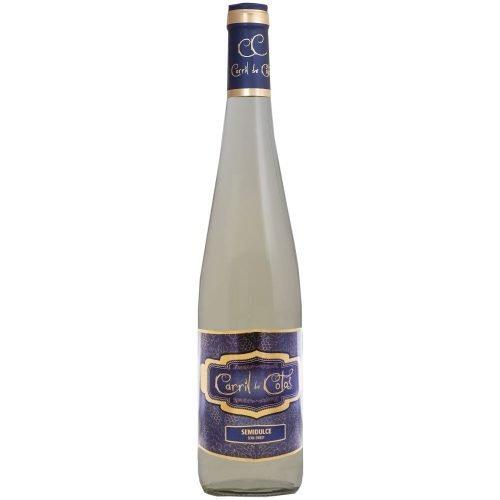 Botella de vino blanco de la Mancha Carril de Cotos Semidulce. de Cooperativa San Isidro de Pedro Muñoz