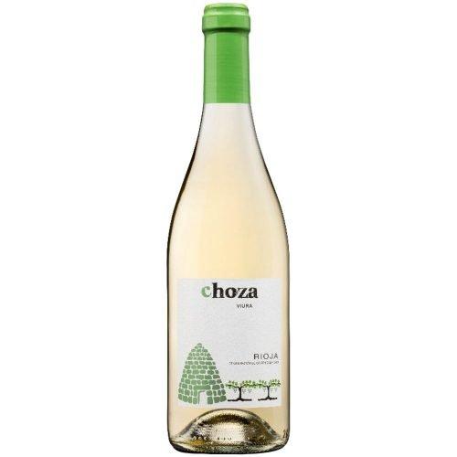 Botella de vino blanco de Rioja, Choza viura. De bodegas Castillo de Oses, perteneciente al grupo Medrano Irazu