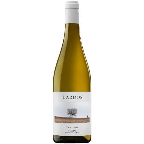 Botella de vino blanco de la zona de Rueda, Bardos verdejo, del grupo Vintae
