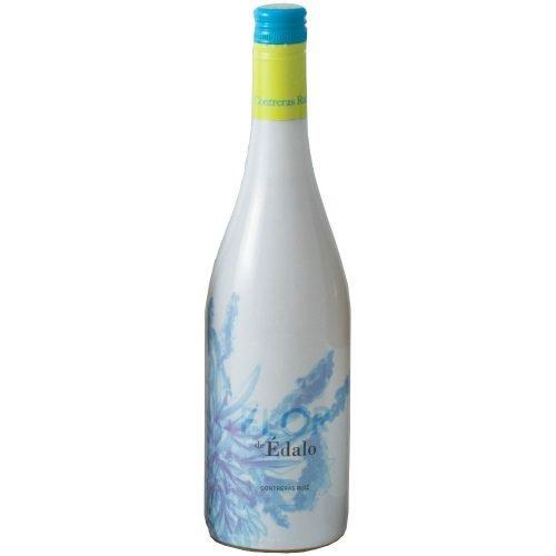 Botella de vino blanco semidulce Edalo, elaborado en la zona de Huelva por bodegas Contreras Ruiz
