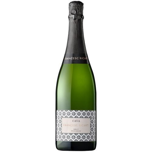 Botella de vino espumoso del Grupo Vintae, cava Francesc Ricart Brut