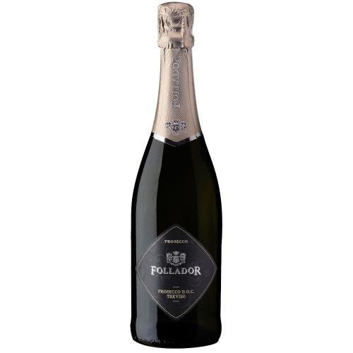 Botella de vino espumoso prosecco italiano, de la región de Treviso. Del grupo vintae.