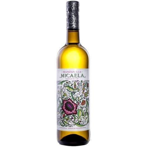 Botella de vino generoso manzanilla Micaela de bodegas Barón, en Sanlucar de Barrameda