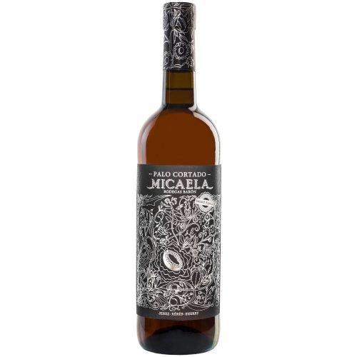 Botella de vino generoso palo cortado Micaela, de Sanlucar de Barrameda