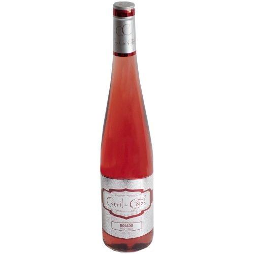 Botella de vino rosado dulce de la Mancha Carril de cotos Rosado. de Cooperativa San Isidro de Pedro Muñoz
