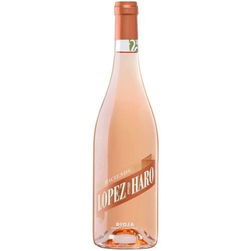 botella de vino rosado de la Rioja Hacienda Lopez de Haro rose. Del grupo Vintae