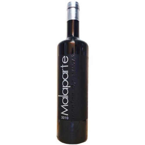 Botella de vino tinto de Castilla León, Malaparte Montón de piñas, de bodegas Malaparte