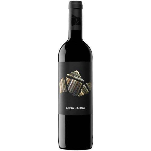Botella de vino tinto de Navarra, Aroa Jauna. Del grupo Vintae.