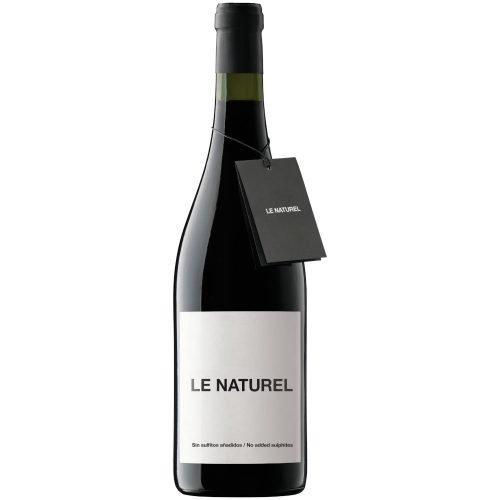 Botella de vino tinto de Navarra. Le naturel, de Aroa bodega. Grupo Vintae.