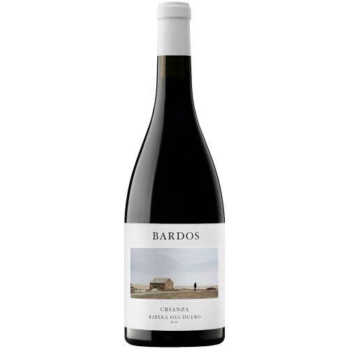 Botella de vino tinto de Ribera del Duero bardos Romantica crianza, del grupo vintae