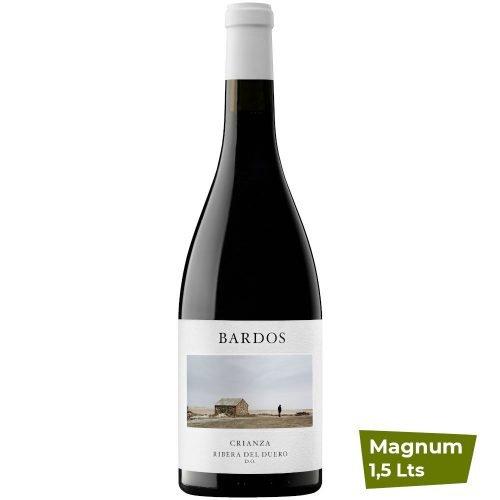Botella magnum de vino tinto de Ribera del Duero, Romántica Crianza, de bodega Bardos, del grupo vintae
