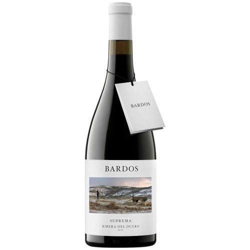 Botella de vino tinto de Ribera del Duero Bardos Suprema. Del grupo Vintae