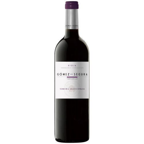 Botella de vino tinto de Rioja Gomez de Segura Vendimia Seleccionada