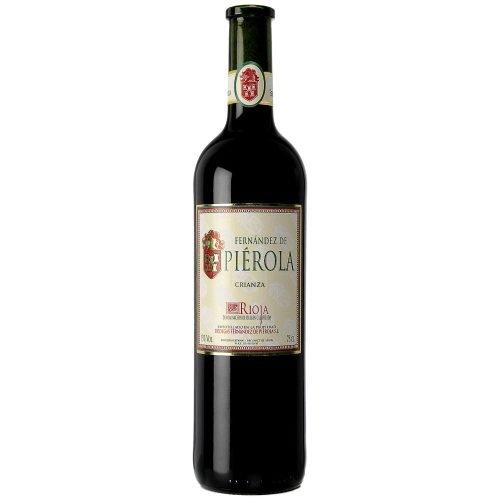 Botella de vino tinto de Rioja Pierola crianza. Del grupo Pierola